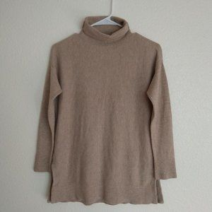 Loft Petites Tan Sweater Pullover Turtle Neck XSP